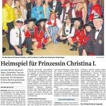 MZ-2012-02-08-Heimspiel für Prinzessin Christina I.